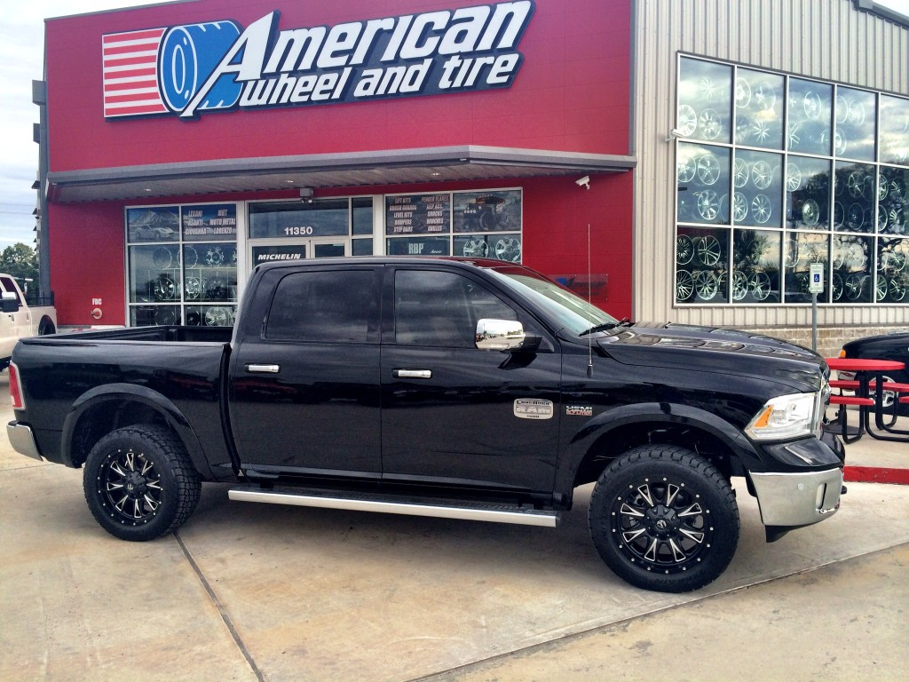 Dodge Ram 1500 Gallery Awt Off Road Accessories Fuel Offroad Throttle Wheels In Matte Black Milled On A