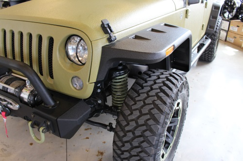 AWT Off Road Jeep Edition Rugged Ridge front and rear Hurricane Flat Fender Flares