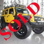 2013 YELLOW RBP JEEP WRANGLER UNLIMITED SPORT WITH 4″ LIFT AND 38″ TIRES