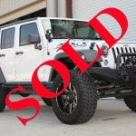 2013 WHITE JEEP WRANGLER UNLIMITED SPORT S WITH 4.5″ LIFT AND 35″ TIRES