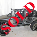 "2013 GRAY JEEP WRANGLER UNLIMITED SPORT WITH 6"" LIFT AND 38"" TIRES"