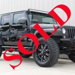 "2015 BLACK ""FORT SAVAGE EDITION"" JEEP WRANGLER UNLIMITED SPORT WITH 3″ LIFT AND 35″ TIRES"