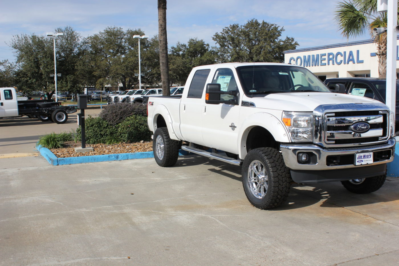 Lifted White Ford F-250 4X4  D