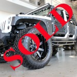 2014 WHITE JEEP WRANGLER UNLIMITED SPORT WITH 4″ LIFT AND 38″ TIRES