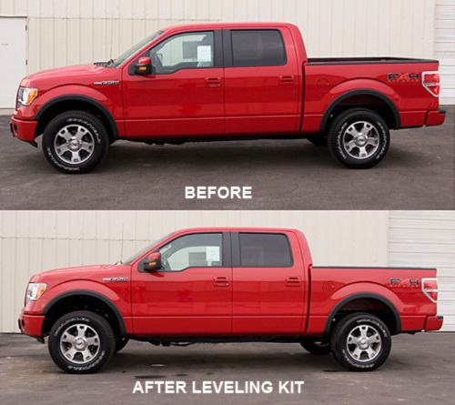 Before & After Suspension Leveling Kit