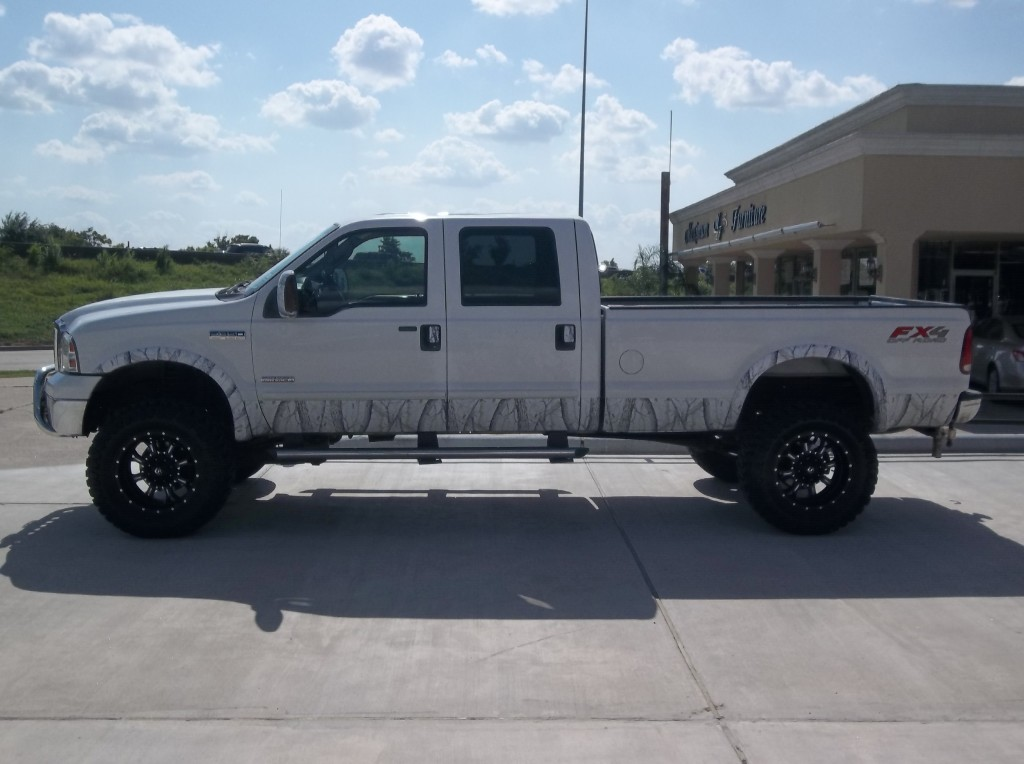 White Ford F  Fx Off Road With  Inch Matte Black Milled Fuel Krank Wheels Wrapped In Toyo M T Open Country X X Lt Tires