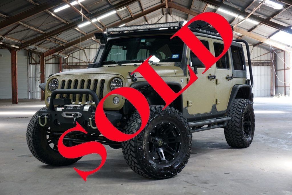2014 Army Green Kevlar Coated Jeep Wrangler Unlimited Sport With 2 5 Lift And 35 Tires Awt Off Road 2019