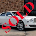 2012 WHITE BENTLEY MULSANNE