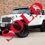 2015 WHITE JEEP WRANGLER UNLIMITED ALTITUDE EDITION WITH 3.25″ LIFT AND 35″ TIRES