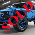2016 BLUE KEVLAR® COATED JEEP WRANGLER UNLIMITED SPORT WITH 4″ LIFT AND 37″ TIRES